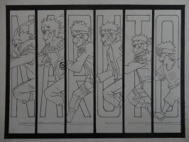 Naruto - running through life - uncolored by Imagine-wonderfall