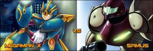 Samus Aran vs Megaman by firebird97
