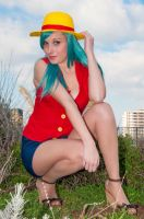 Luffy Bulma by palladineve4