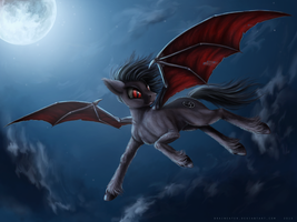 Commission: Midnight soar by Bra1nEater