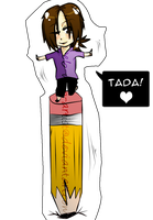 i liek standing on pencilz YAY by just-a-web-artist