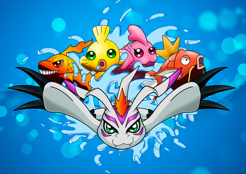 Gomamon - Marching Fishes by LuRocha