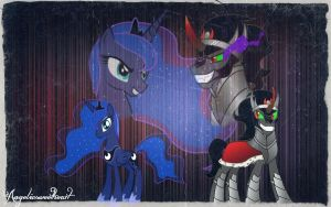 ~ Princess Luna x King Sombra ~ by Caitybabygirl