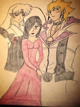 Me, Sesshomaru on the right and Jack on the left by ana1238