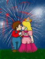 Young Love - Peach x Mario by kcjedi89