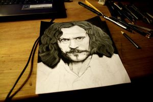 Harry Potter Project: Sirius Black WIP 2 by artbyjoewinkler