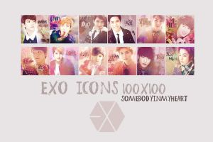 EXO ICONS 100X100 by somebodyinmyheart
