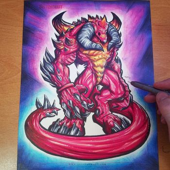 Commission: Diablo Heroes of the Storm - Copics by RobDuenas