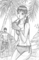 Quick Sketch: Risa's Summer by nicoyguevarra