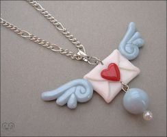 Pendant 'Love letter' by AnielClayWorks