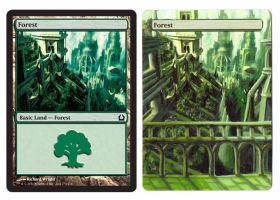 Forest MTG Land Alter by ke-couture