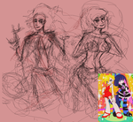 Panty and Stocking Anarchy pre-scetch by MomimiED