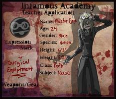 Infamous Academy:: Malador by Greasy-Hyena