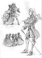 Ravenloft Sketches- Yule Eve by temiel