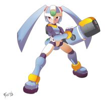 Lilian Mega Man Form by Shoutaro-Saito