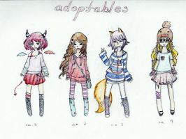 Mixed 5-point Adoptables!(CLOSED) by winterbreath1998