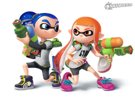 Inkling Pair Transparent by hextupleyoodot