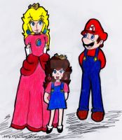 AT: Mario Peach and May Belle by Glaciliina
