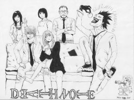 DEATH NOTE: YAGAMI family by AndyGramacho