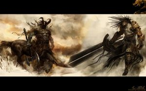 GW2 Centuar-Dude Wallpaper by AngelicBond
