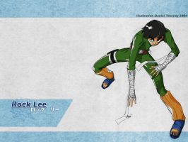 Rock Lee desktop by dtownley1