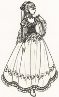 Elven Dress Lineart for color-me-club by alquamire