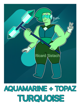 Topaz and Aquamarine Fusion (Turquoise) by RicardSistach