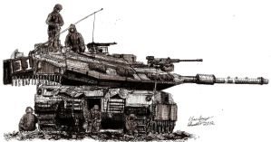 Beast at Rest (Israeli Merkava MK 4 Tank) by shank117