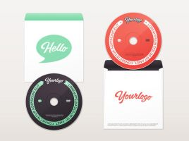 DVD and Envelope Mock-Up by GraphicBurger