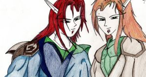 The twins Light and Dark by Amazair
