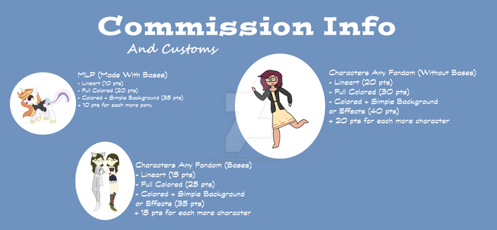 Commission Info + Customs - OPEN by jppedracunha