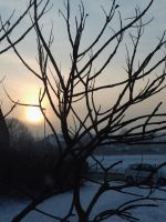 Sunset on a winter's day 2 by MiekeVeke
