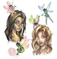 Lizzie and Laura by yvash