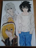L, Near and Mello by Laineyfantasy