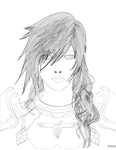 FFXIII-2 Lightning Portrait Uncolored by Drekrief