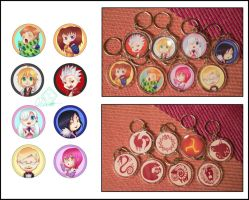 Seven Deadly Sins Keychains by Dicenete
