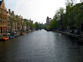 Amsterdam canal by Jaanos