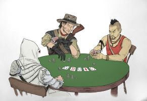 A game of poker by ThePotatoStabber