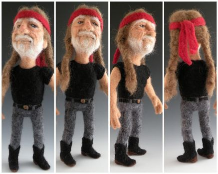 Li'l Willie Nelson - felted by FeltAlive