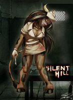 Halloween 2012, Vanessa as Silent Hill Nurse by Toughset