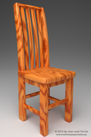 Rustic chair - Showcasing procedural wood by JuanJoseTorres
