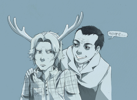 Moose and Daddy by TridentFreak