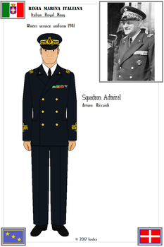 Sq. Adm. Arturo Riccardi (Winter service uniform) by Lordics