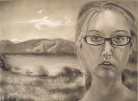 Shades of Grey: Self-Portrait by ipsiepixie