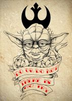 Master Yoda Tattoo Commission by Chronokhalil
