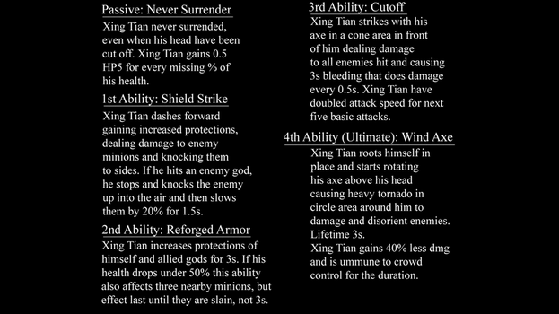 Smite Datamined God - Xing Tian Abilities by DaveSpectre122