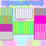 Pack of 10 stripes by thinminmeg