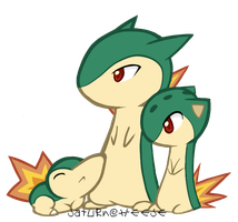 Cyndaquil Family by SaturnCheese
