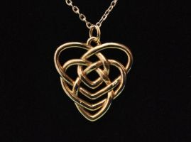 Mother's Knot Gold Plated Brass by dfoley75