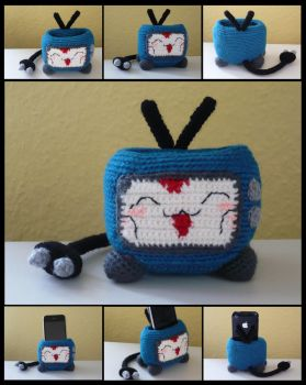 Mokona TV Cell Phone Holder by Luluriel
